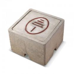 Caja de Registro con tapa de concreto