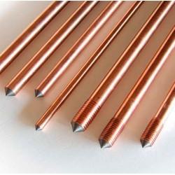 """Electrodo de cobre 3/4"""" x 2.4 metros"""