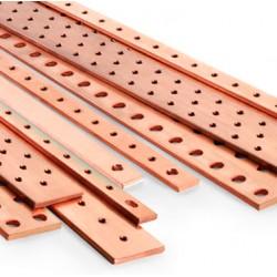 Barras de Cobre Perforadas o Cortadas a Medida