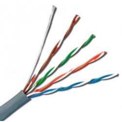 UTP Cat.5e Cable Solido 4 pares 24 AWG