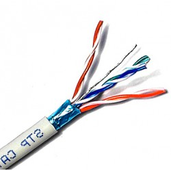 STP Cat.5e Cable Sólido 4 pares 24 AWG