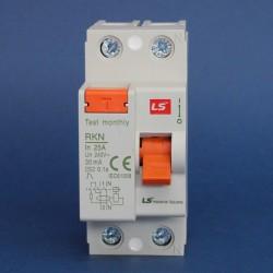 Interruptores Diferenciales IEC Tipo AC Serie RKN 30mA Marca LS