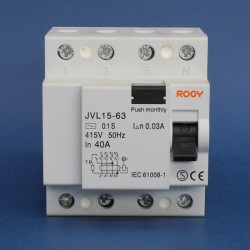 Interruptores Diferenciales IEC ROGY Serie JVL-4 30mA